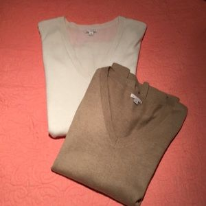 Camel & winter white soft tunic sweaters